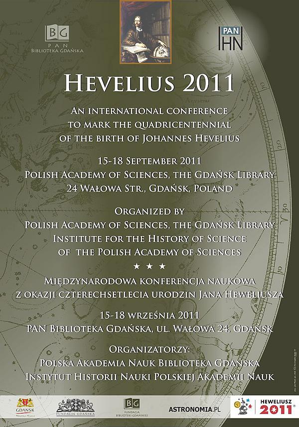 Konferencja Hevelius 2011 afisz informacyjny