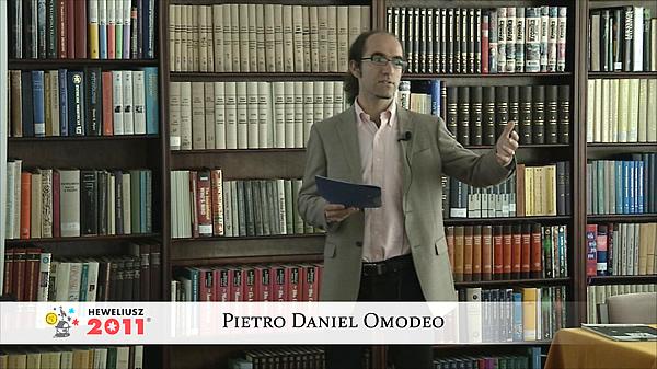 Konferencja Hevelius 2011 - Sesja 6 - Pietro Daniel Omodeo