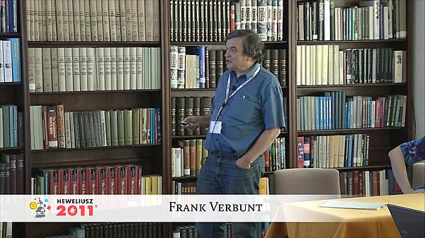 Konferencja Hevelius 2011 - Sesja 3 - Frank Verbunt