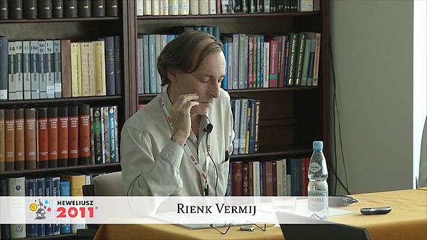 Konferencja Hevelius 2011 - Sesja 6 - Rienk Vermij