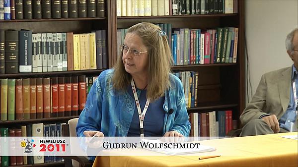 Konferencja Hevelius 2011 - Sesja 2 - Gudrun Wolfschmidt