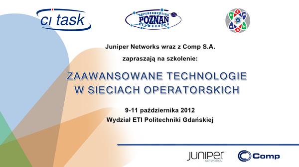 Szkolenie JUNIPER 2012 - cz. 1 - rozpoczęcie szkolenia