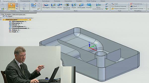 I Pomorskie Spotkanie Użytkowników systemu Siemens NX - część 4 - Prezentacja oprogramowania CAD/CAM/CAE - prowadzi Andrzej Jakubek.