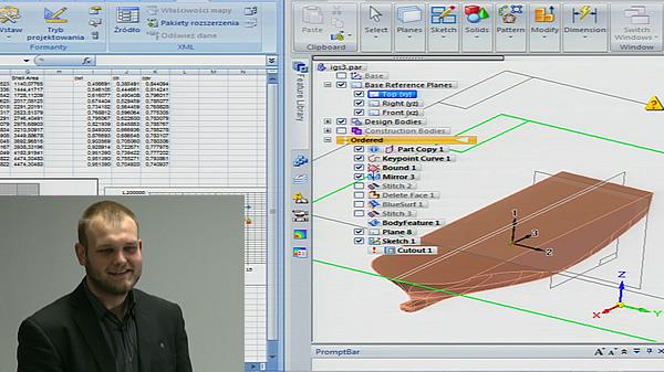 I Pomorskie Spotkanie Użytkowników systemu Siemens NX. Część 7 - Prezentacja koła naukowego PIKSEL - prowadzi Mateusz Citak.